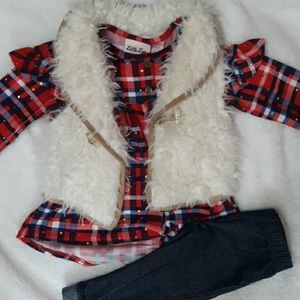3pc outfit =vest,shirt& pant